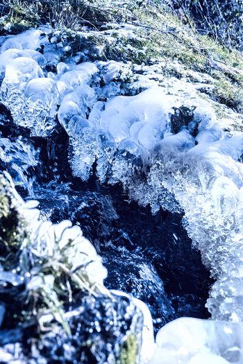 Winter creek in