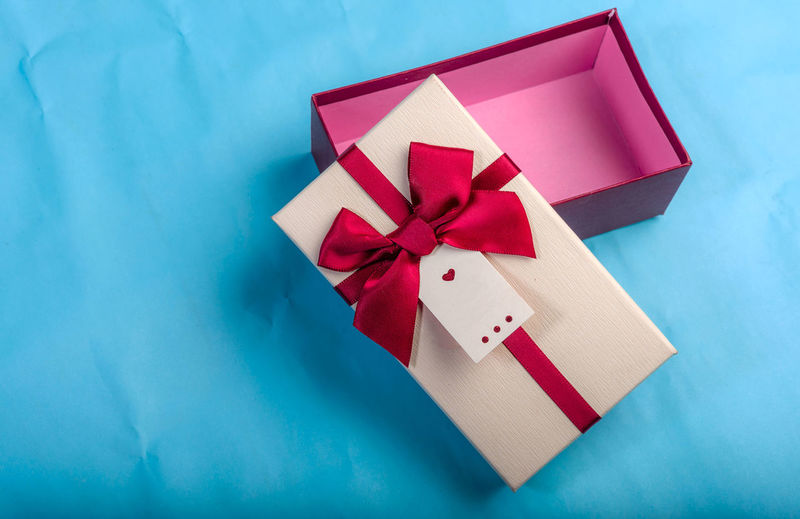 Red gift box,