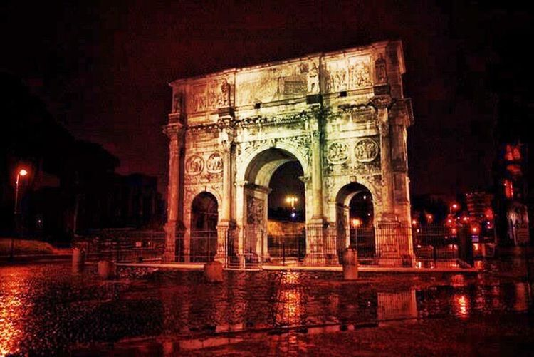 Rome Italy Italia Check This Out Hanging Out Hello World Relaxing Taking Photos Enjoying Life Moonlight HDR Hdr_Collection Photooftheday Photographic Memory Showcase: February Arch Learn And Shoot: After Dark
