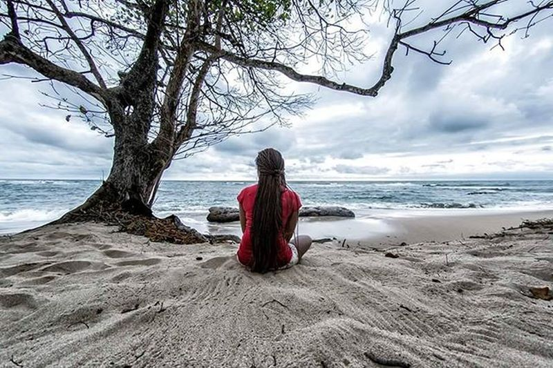View From  The 6 . . . . Africa Gabon Beach Chill Beautiful Beauty Woman Girl Cute Sea Sand Mood