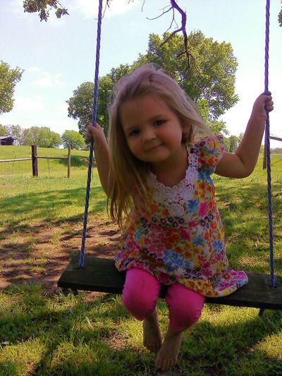 My sweet little granddaughter Lahn My Granddaughter Family❤ Memories Swinging Child Playing Little Girl Pretty Girl Girl Childhood Child Swing