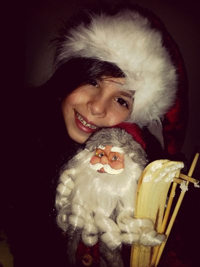 My Lovely Cousin With Santa Claus Merry Christmas!