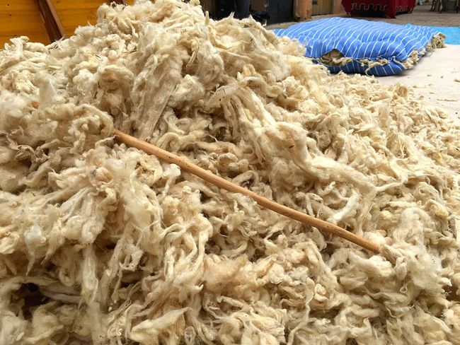 Traditional market Wool Industry Traditional Work Tradition Wool Textile Indoors  Food No People Close-up Day