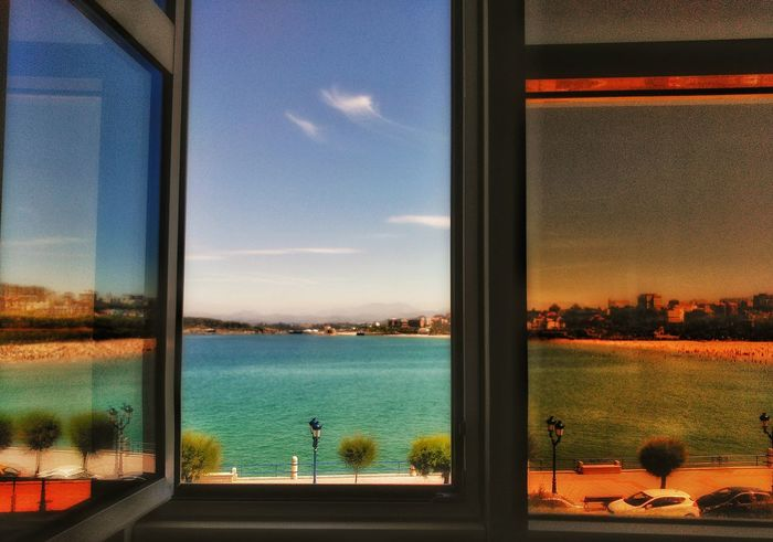 Siesta Window Wiew From My Window Sunny Santander El Sardinero No People Sea Sky Blue Orange EyeEmNewHere