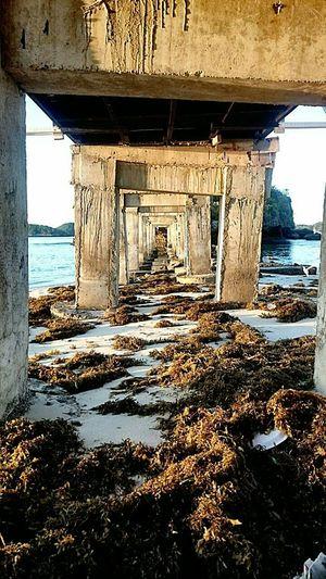 Hundred Islands  Alaminos Lostinph Bridge Under The Bridge Sea Beach Seaweeds Patterns Architecture The Architect - 2016 EyeEm Awards Your Design Story Feel The Journey