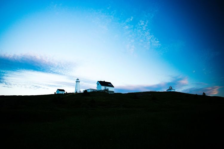 Blue Hour on the Cape Silhouette Outdoors Blue Nature Sky Lighthouse Sunset Architecture Building Exterior No People Tranquil Scene Dusk Tranquility Cloud - Sky Beauty In Nature Landscape