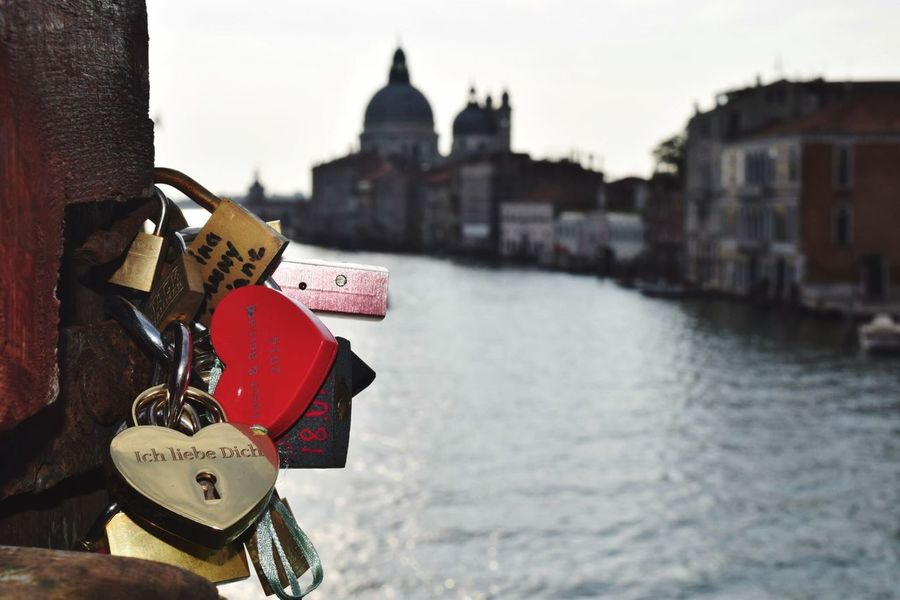Padlock Lock Love Lock Security Safety Built Structure Railing Architecture Protection Building Exterior River Love Water Metal Outdoors Hope Hanging No People Day Safe Venice, Italy Love ♥ EyeEmNewHere