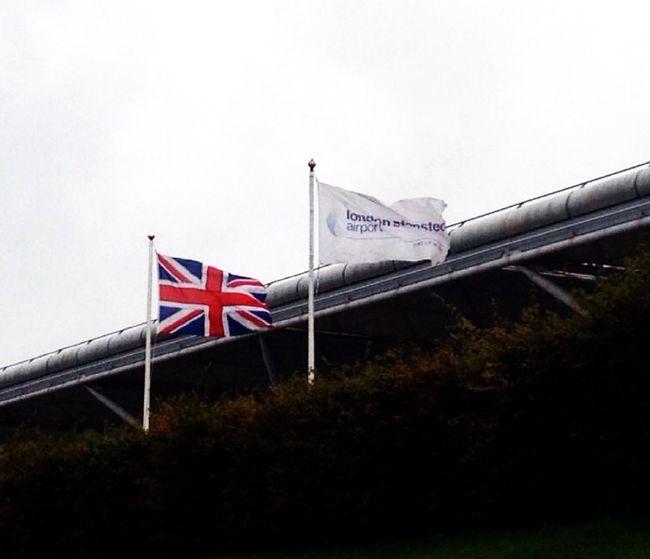London Airport England Traveling Me Around The World Flag Rainy Days Europe Gray Sky