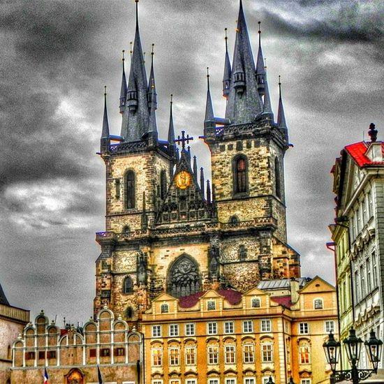 Prag Praha Castle Slott moln himmel sky cloud skyviewers skyporn cloudporn