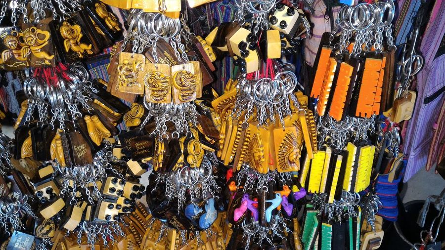 Souvenirs For Sale At Market Stall