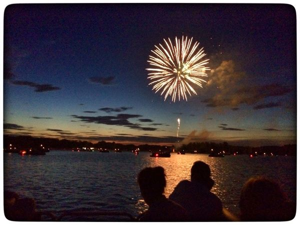 Fireworks Lake Summer 4th Of July Light And Shadow Light Up Your Life Night Lights Light In The Darkness Shadows & Lights