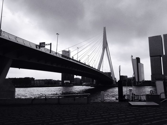 Architecture Built Structure Bridge - Man Made Structure Sky Connection River Water Building Exterior Cloud - Sky Outdoors Day City No People Travel Destinations Nature Neighborhood Map Black And White Friday