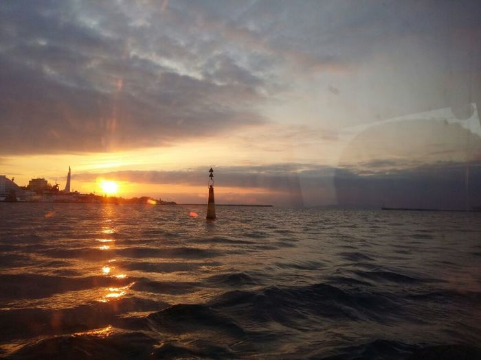 Water Sea Sunset Nautical Vessel Nature Outdoors Business Finance And Industry Vacations No People Horizon Over Water Sailing Beauty In Nature Sky Day