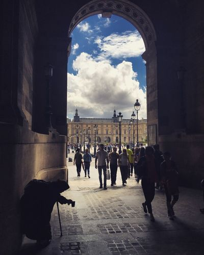 Beggar at the Gate Louvre Louvremuseum Romaní Paris Arch Architecture Architectural Feature Art Ciaroscuro Shadow