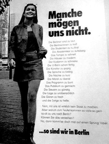 kommen se doch mal auf einen Sprung rüber West Berlin Retro Ad Nothing Has Changed