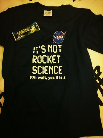 NASA Science Tshirt Rocket Science so happy! Thank you so much!