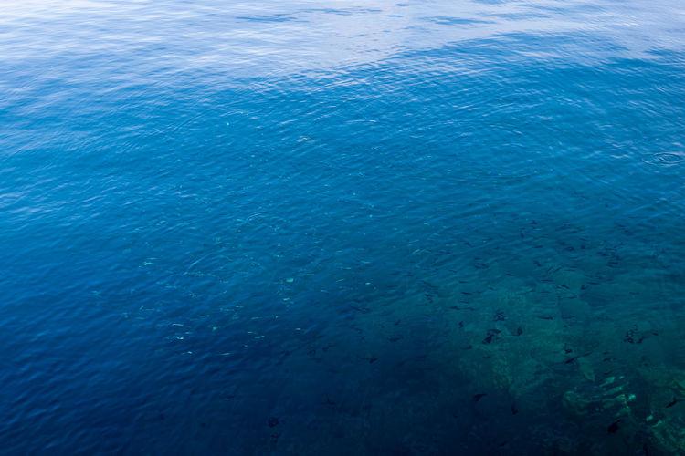 Full frame shot of blue sea