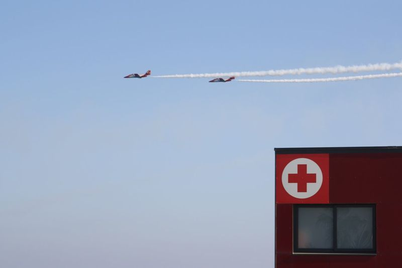Air Festival Airplane Minimal Twins Lines Barcelona