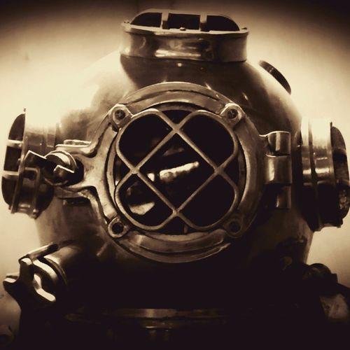 Underwater Dive OleSkool Sepia Edit Noir Ocean Navelstuff Thesea