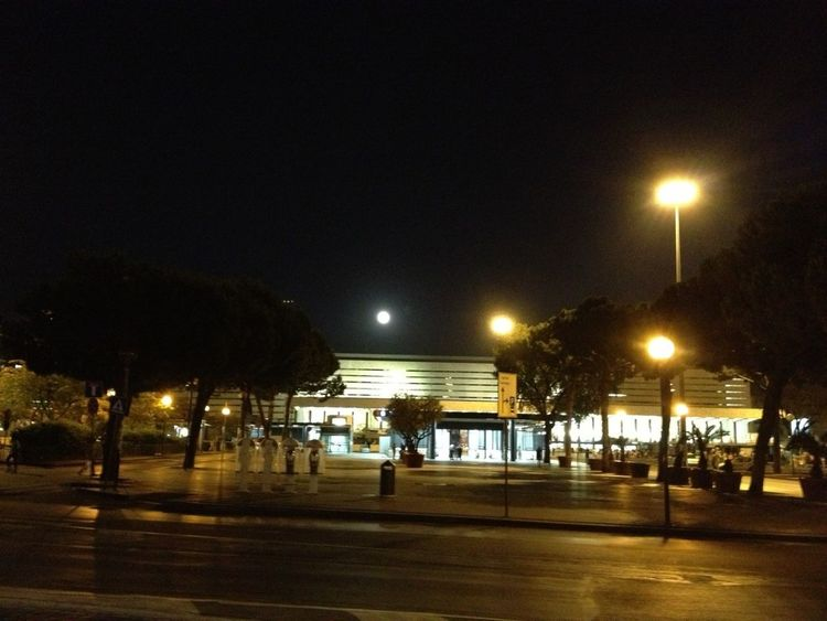 Termini station by night with the supermoon Supermoon 2013