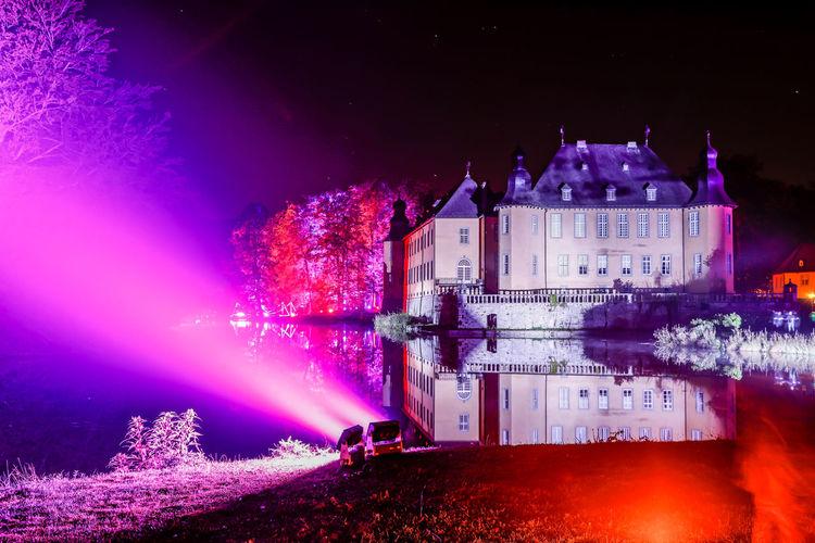 Ilumina 2017 Schloß Dyck Architecture Castle Event HDR Historical Building Light Nightphotography Reflection Schloss Dyck Tree Art Color Culture Germany Historic Illuminated Illumination Longtimeexposure Night Water