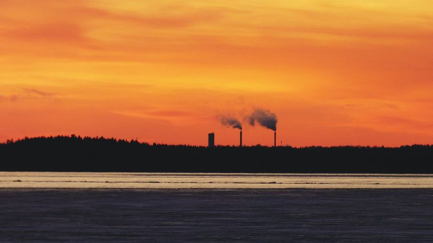 How Do We Build The World? Nature From My Point Of View See What I See Landscape Industrial Red Sky