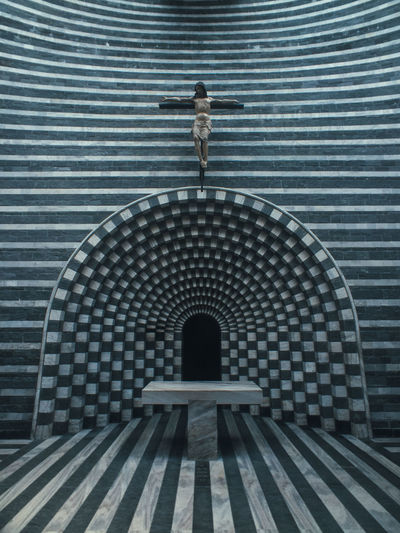 Mario Botta Mogno Travel Travel Photography Arch Architecture Built Structure Day Digital Composite Full Length Futuristic Indoors  Metal Mystery One Person Pattern Rear View Standing Switzerland