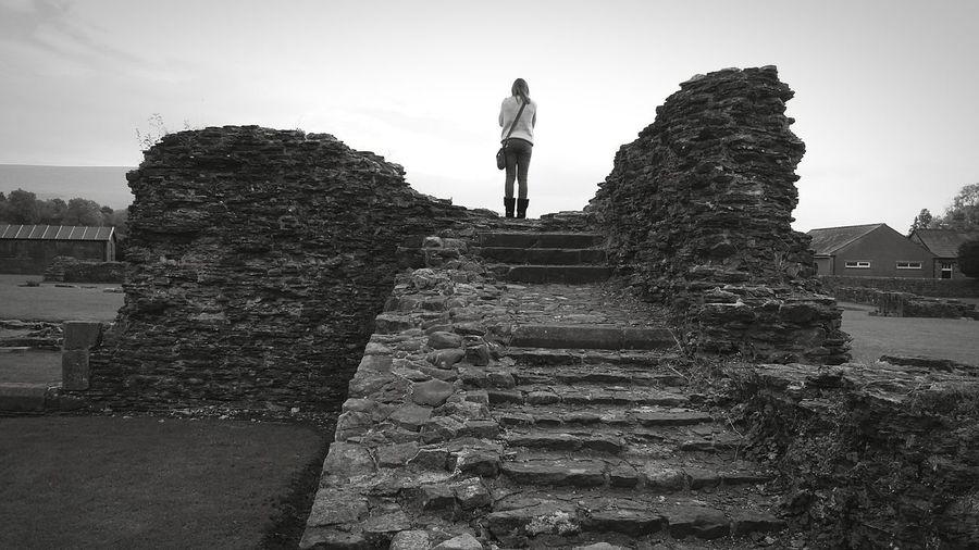 Sawley Uk Ruins Walking Around Taking Photos