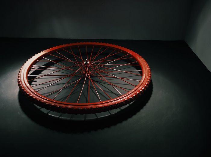 Bycicle Weels Futuristic Illuminated Indoor Night No People Odessa Odessa,Ukraine Red Red Weel Red Wheel Ukraine Weel Wheel