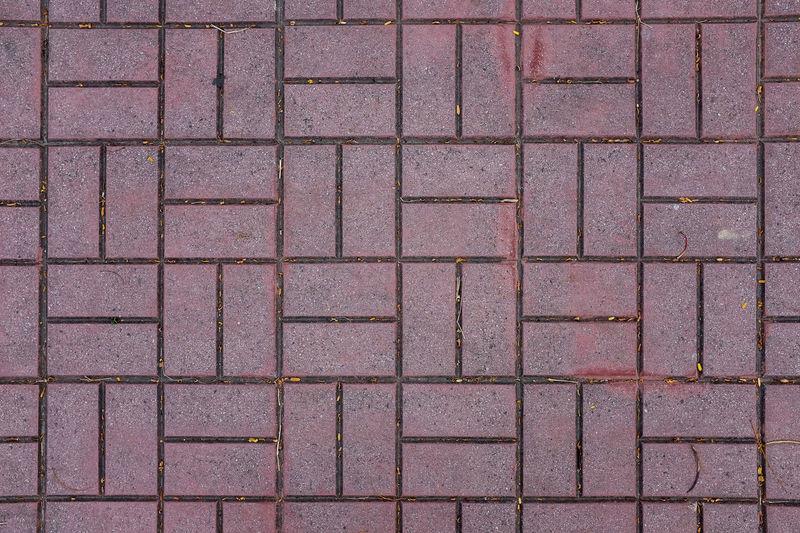 Brick floor.