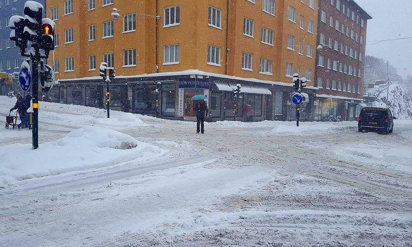 Winter x-ing Södermalm Stockholm Winter Snowstorm Adapted To The City The Great Outdoors - 2017 EyeEm Awards