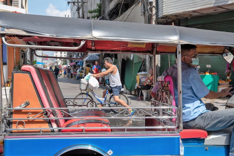Transportation Mode Of Transportation Adult Group Of People Men Occupation Day Travel City Real People People Working Architecture Shopping Land Vehicle City Life Side View Women Outdoors Thailand Travel Destinations Travel Photography Thailandtravel The Art Of Street Photography