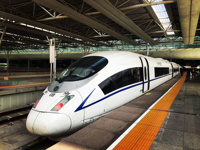China Hongqiao Train Station Hongqiao Bullet Train Bullet Train, Beijing - Shanghai CRH