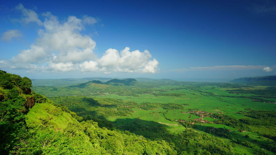 Ciletuh National Geopark in Pelabuhan Ratu, Indonesia Scenics - Nature Cloud - Sky Beauty In Nature Sky Landscape Tranquil Scene Tranquility Environment Green Color Nature No People Tree Non-urban Scene Plant Mountain Day Land Idyllic Outdoors Growth