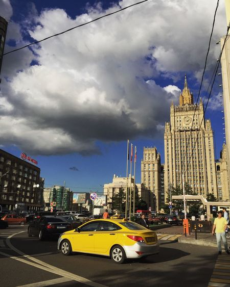 Cityscapes Moscow Architecture Taxi Summer Views Check This Out Clouds And Sky Sunny Day Enjoying The View Walking Around The City  City Life