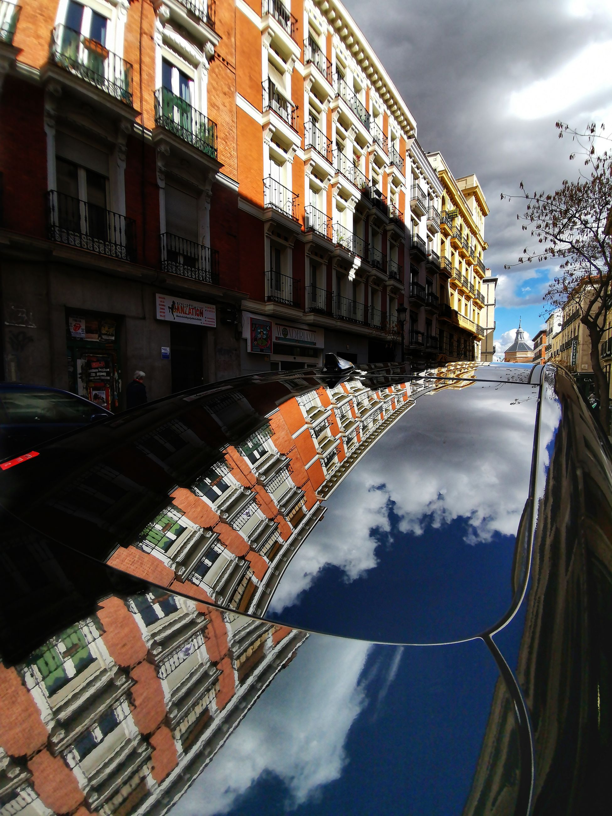 building exterior, cloud - sky, architecture, built structure, city, sky, nature, building, residential district, reflection, day, transportation, outdoors, mode of transportation, no people, canal, water, travel, street