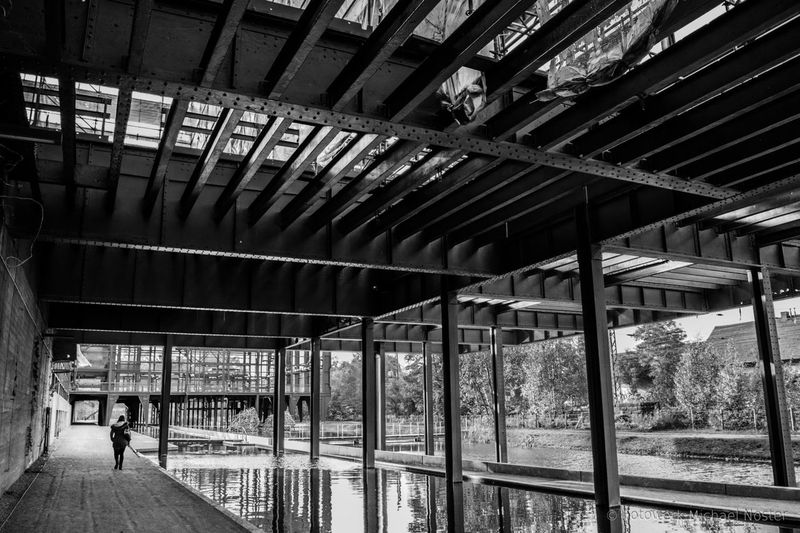 Architecture Built Structure Day One Person Water Outdoors Steel Structure  Industrial EyeEmNewHere