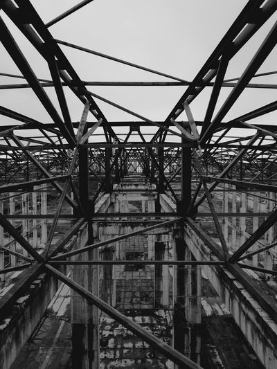 Sky Low Angle View Metal Black & White Built Structure B&W Magic Architecture No People Day Outdoors B Close-up The Secret Spaces