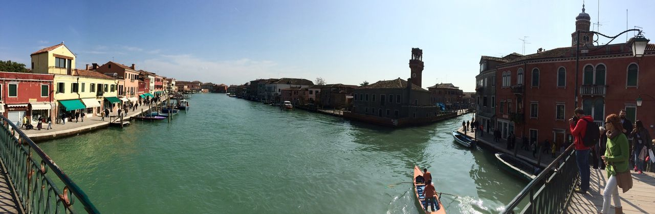 Panoramic shot of grand canal against sky