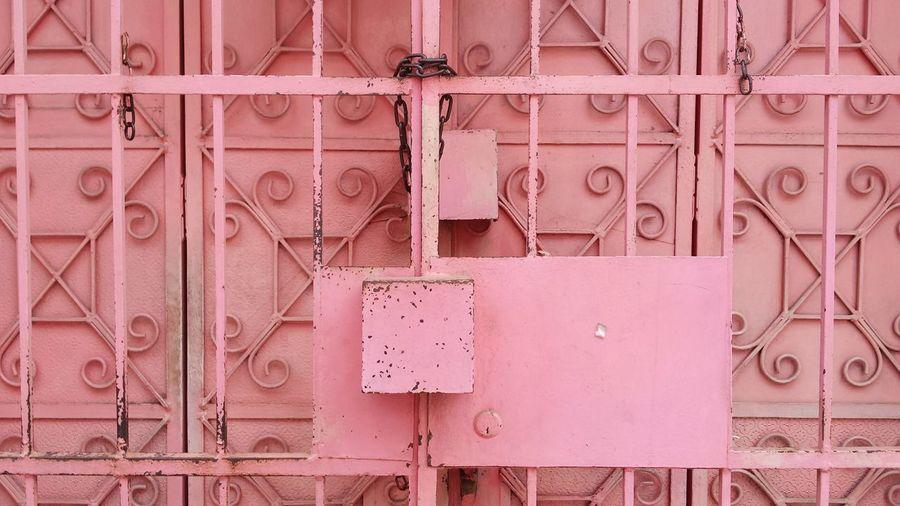 Full frame shot of padlock