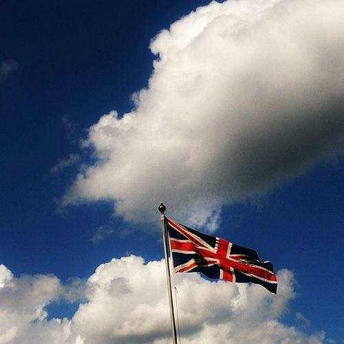 The Queen didn't turn up at work in the end haha. Clouds Cloud Cloudporn Weather lookup sky skies skyporn cloudy instacloud instaclouds instagood nature beautiful skyline horizon instasky epicsky crazyclouds photooftheday cloud_skye skyback insta_sky_lovers iskyhub sky_vibrance sky_painters skywatcher flag unionjack