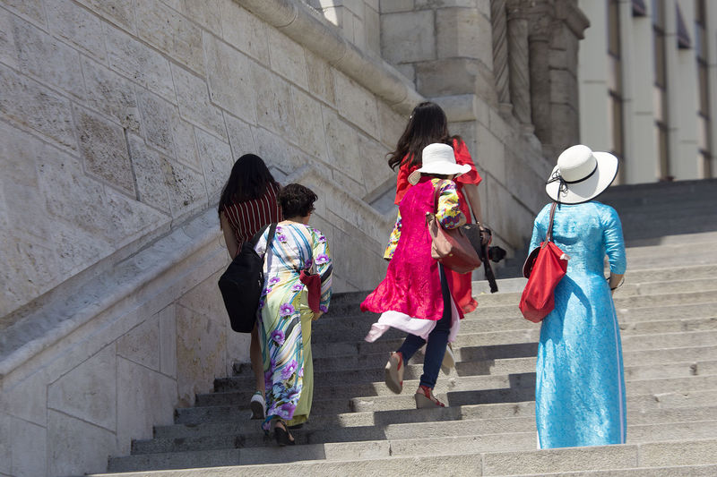 Fashion Stories Tourists Adult Architecture Beautiful Costume Building Exterior Built Structure Day Friendship Full Length Girls Outdoors People Real People Rear View Steps Street Photography Streetphotography Walking Women The Street Photographer - 2018 EyeEm Awards
