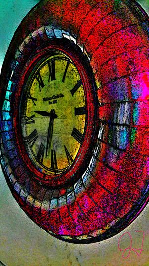 """""""Clock"""" Clock Time July Showcase Contest Colorful Colourful Colors The Magic Mission Effects Filters Fine Art Photography Artphotography Art Photography Eyeemphoto Wallclock Old Clock Oldclock Stained Glass Stainedglass Stained Glass Effect Stainedglasseffect Home Is Where The Art Is Pivotal Ideas Colour Of Life Pivotal ıdeas"""