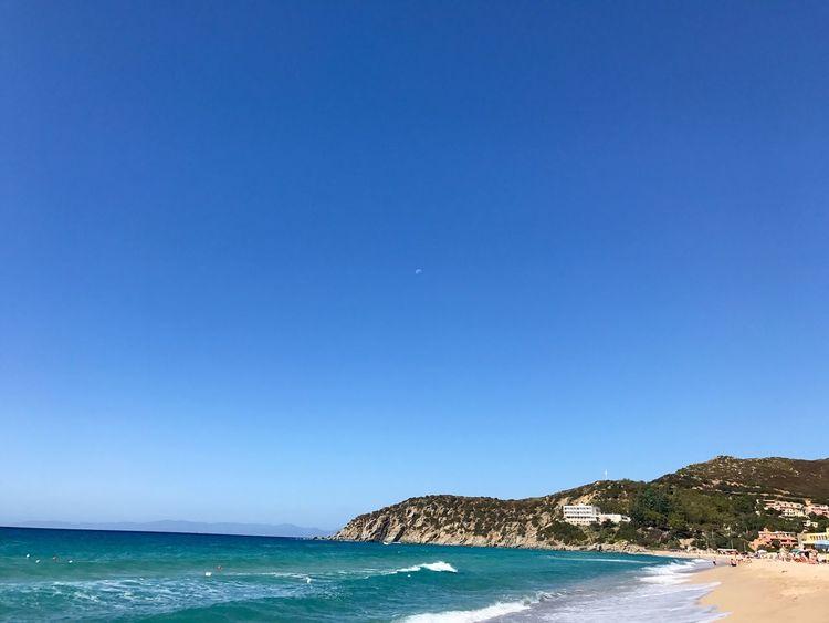 Vanity Beach in Sardinia Sea Blue Copy Space Clear Sky Scenics Nature Beauty In Nature Water Beach Tranquil Scene Sky EyeEmNewHere