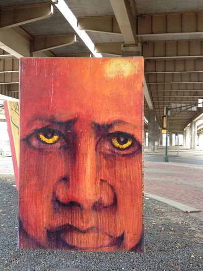 Dallas-Streetart Crazy Art Angry Man....