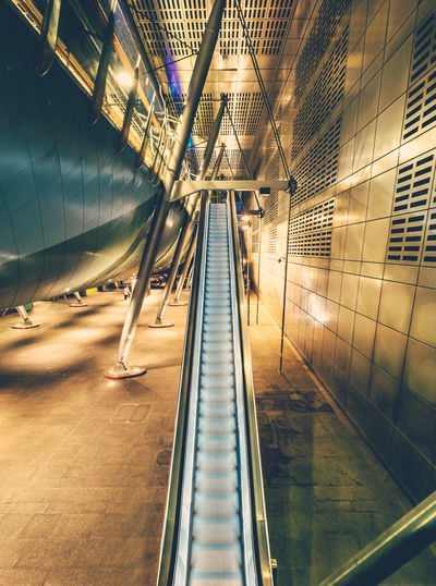 That escalated quickly. Absence Ceiling Convenience Corridor Day Diminishing Perspective Empty Escalator Flooring Illuminated Interior London London Underground Modern No People Subway Subway Station The Way Forward Tile Vanishing Point The Architect - 2016 EyeEm Awards