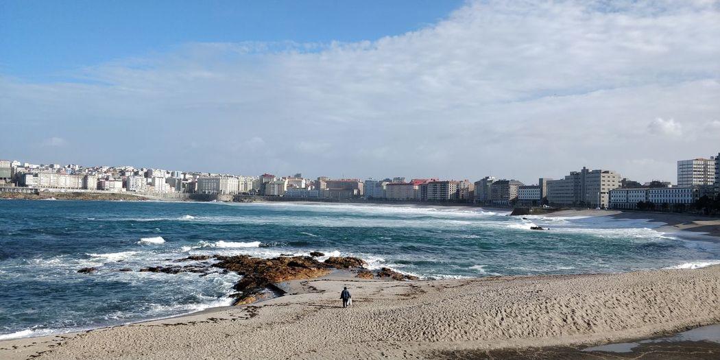 Riazor A Coruña A Coruña City Riazor Riazor Beach City Cityscape Water Urban Skyline Sea Beach Sand Skyscraper Summer Wave Coastline Seascape Ocean Rocky Coastline Calm The Traveler - 2018 EyeEm Awards
