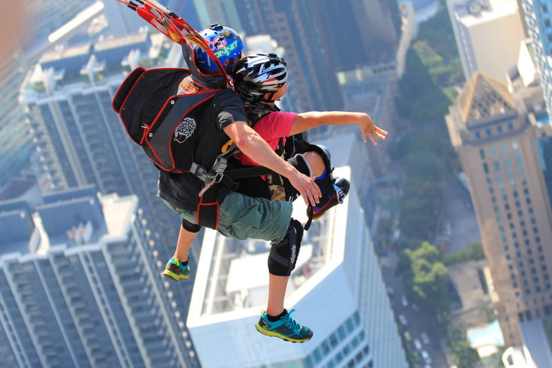 Courage Base jumpers launched themselves off the tower at the recent KL tower Bas eJump 2016 Buildings Colors Extreme Close-up Extreme Sport Extreme Sports Flying Jump KL TOWER Kuala Lumpur Kuala Lumpur Malaysia  O Outdoors Paradise Sky Skydive Sport Urban