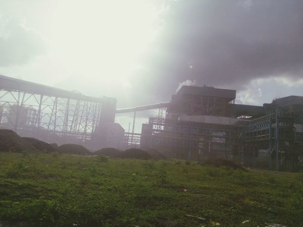 Coal Burning Power Plant Thermal Power Station Day Nature Grass Fog No People