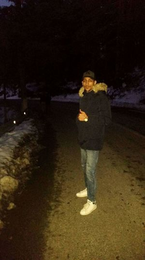 Full Length Standing One Person Night People Adult Adults Only Headwear Only Women Outdoors One Woman Only Warm Clothing Young Adult Park National Chrèa, Blida